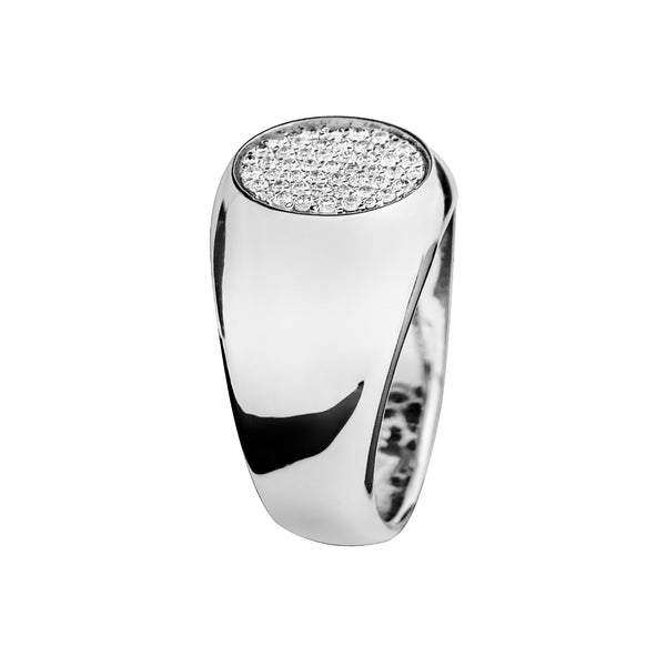 Ring Silver  Diamond Oreage JR-1193