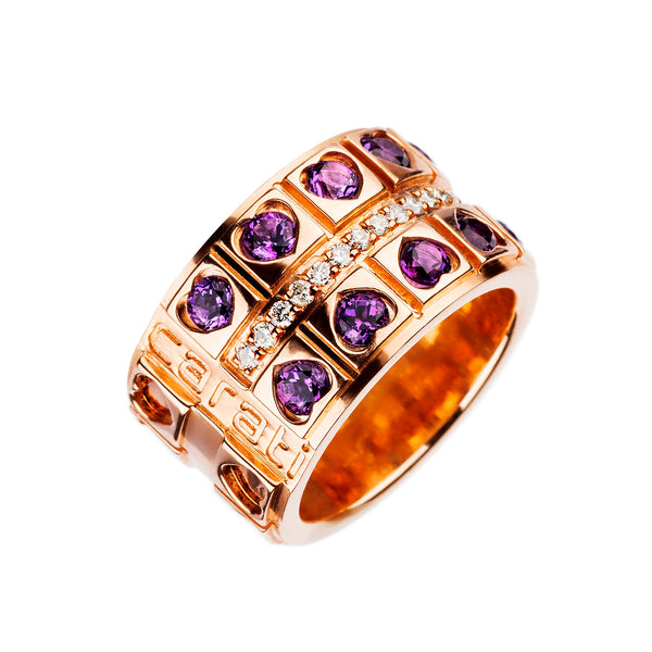 Anillo Love Oro Rosa  Collosseum  Amatista