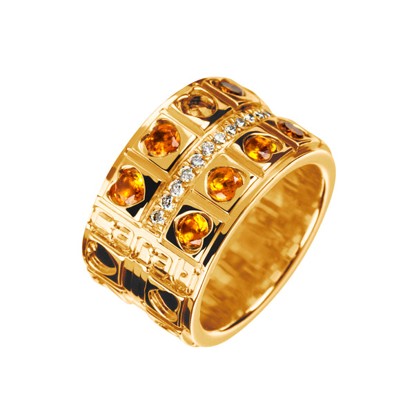 Anillo Oro Love Citrino