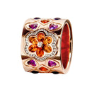 RING Rose GOLD Citrine & Amethyste LCD-3056-6