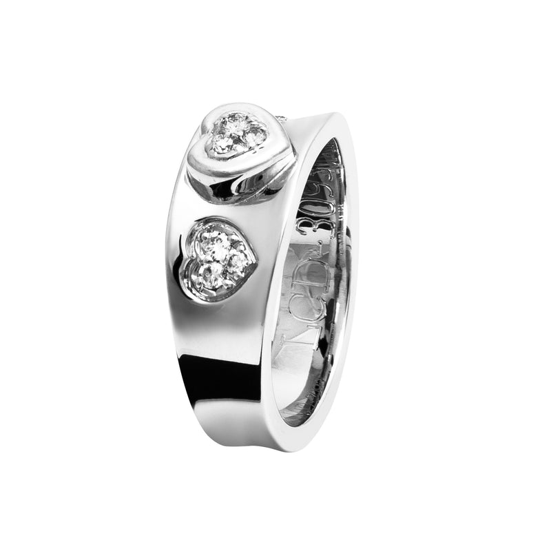 Ring Silver hearts diamond Oreage Lcd-3093