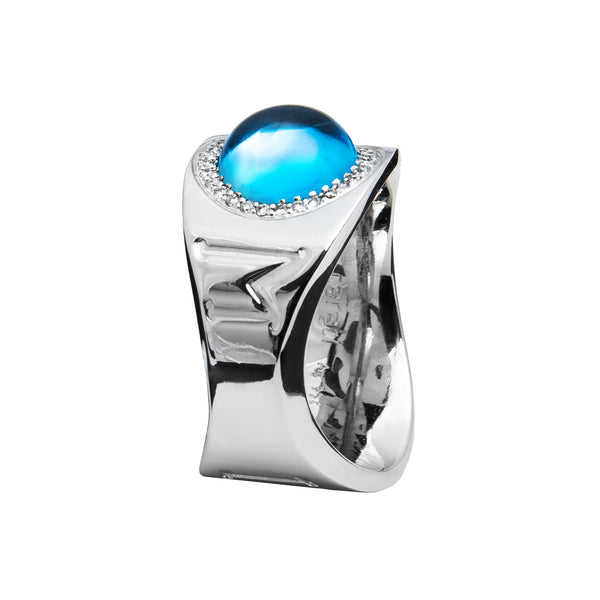 Ring Silver  love Topaz Oreage Lcd-3094