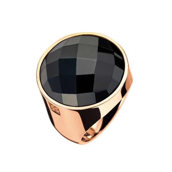 Ring Gold Onyx and Diamonds lcd-3102/10