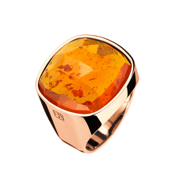 RING  Rose Gold Ambar gem LCD-3106/4