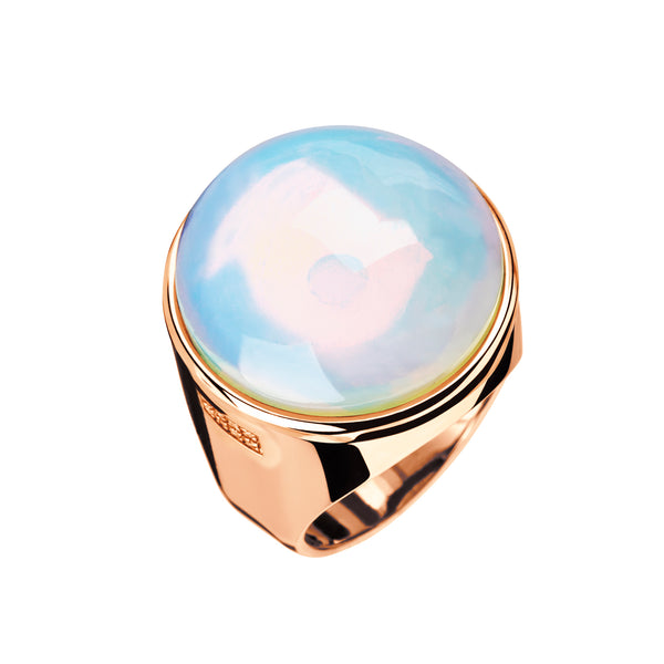 RING Rose GOLD white Opal LCD-3112-41