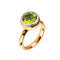 RING YELLOW GOLD  Peridot  Round Lcd-3114/27