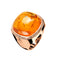 RING Rose GOLD cushion shape Ambar