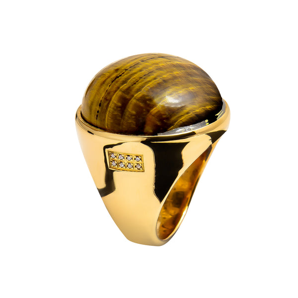 RING GOLD Tiger Eye LCD-3112