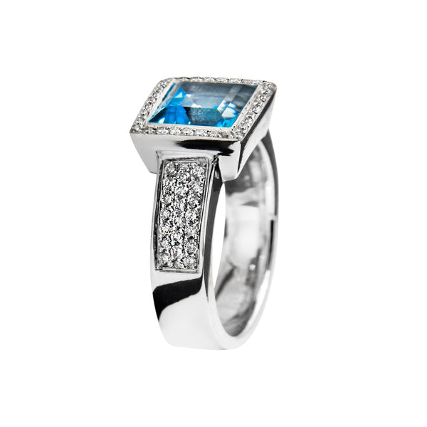Ring Silver Blue TopAz Oreage Lcd-3069