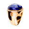 RING Rose GOLD cushion shape lapis lazuli