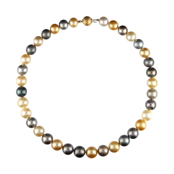 Golden And Gray South Sea Pearl Necklace