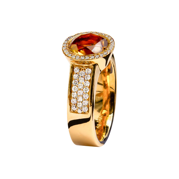RING YELLOW GOLD CITRINE JR-1098/22