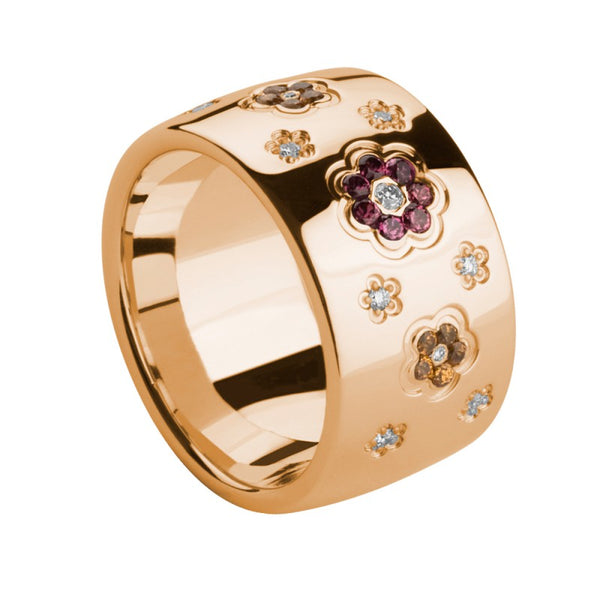 RING Rose GOLD  Flower Amethyst and Citrine Lcd-3043/30