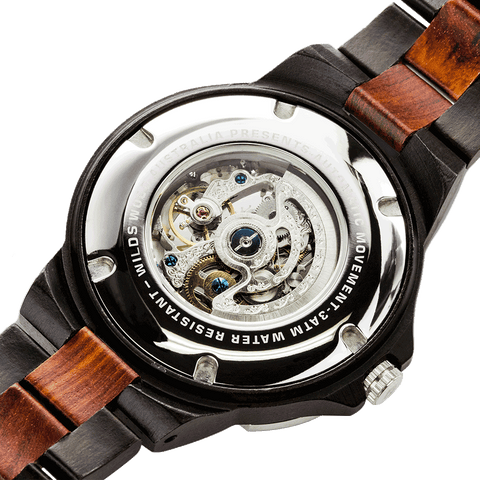 Our all amazing Ebony & Rose wood watch has earned its place as one of the best on the market and that's all thanks to its flawless design. Besides that, this automatic Ebony & Rose wooden watch is water resistant, meaning you wouldn't get to ruin it even if you're caught in a heavy downpour.