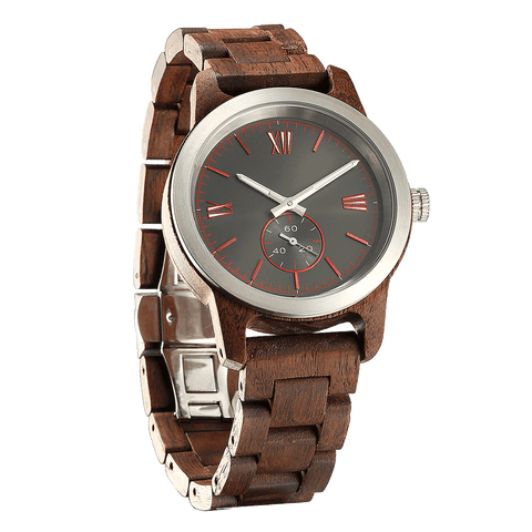 Personalized Engraved Walnut Wood Watch
