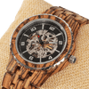 Premium Men's Automatic Zebra Wood Watches