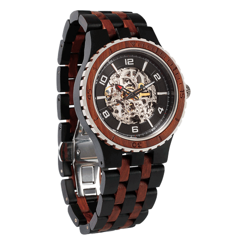 Premium Men's Automatic Ebony & Rosewood Watches
