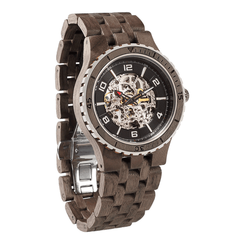 Premium Men's Automatic Walnut Wood Watches