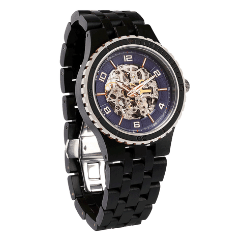 Premium Men's Automatic Ebony Wood Watches