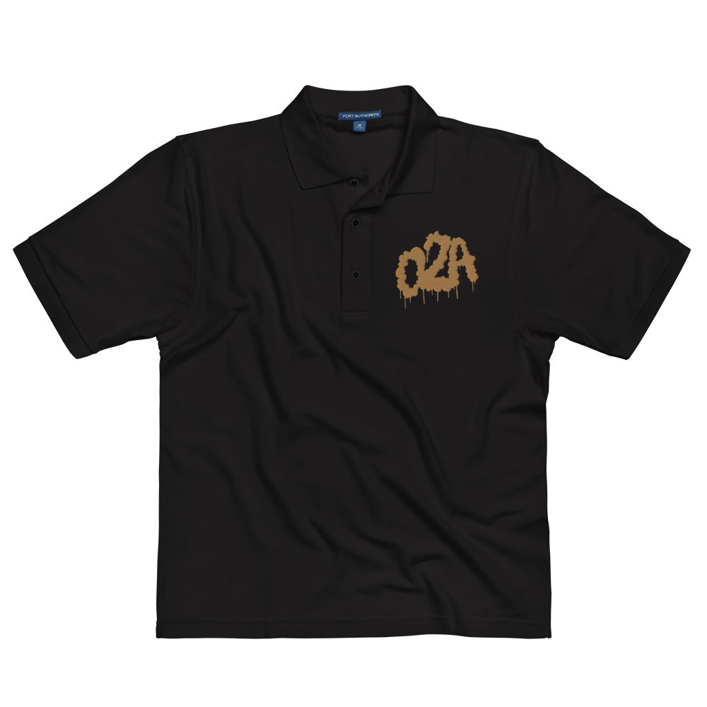 02A--Men's polo (old gold thread)