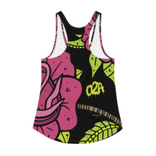 Load image into Gallery viewer, Rose dose--Women's all over print Racerback Tank