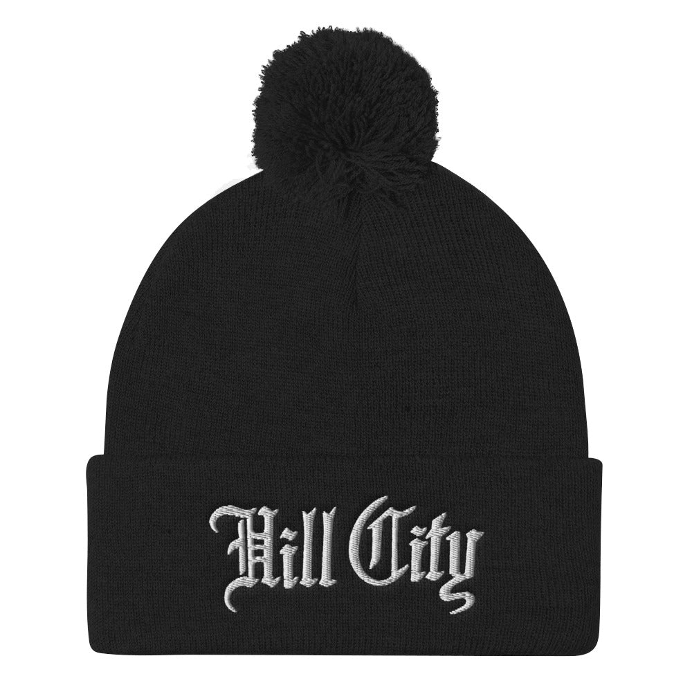 Hill City: Pom Pom Knit Cap