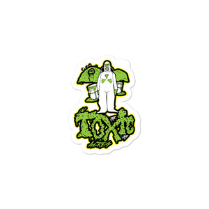 On Toxic Acres--Green Slime: Sticker