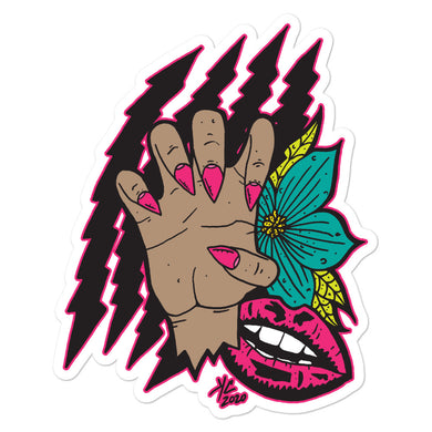 Claws out--sticker