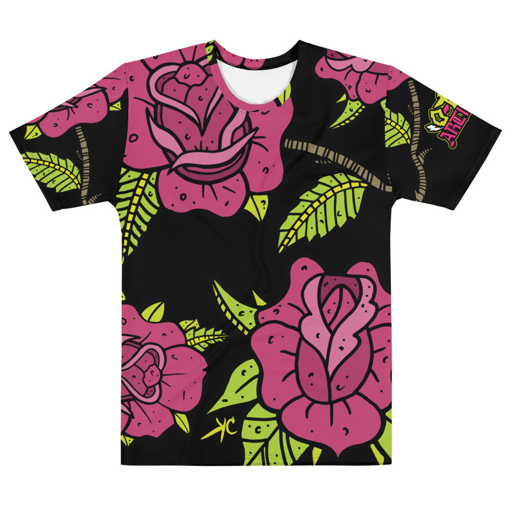 Rose dose--Men's all over print tee