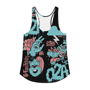02A: mural--Women's all over print Racerback Tank