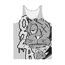 Load image into Gallery viewer, back to basics (black and gray)--all over print Unisex Tank