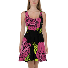 Load image into Gallery viewer, Rose dose--all over print Skater Dress
