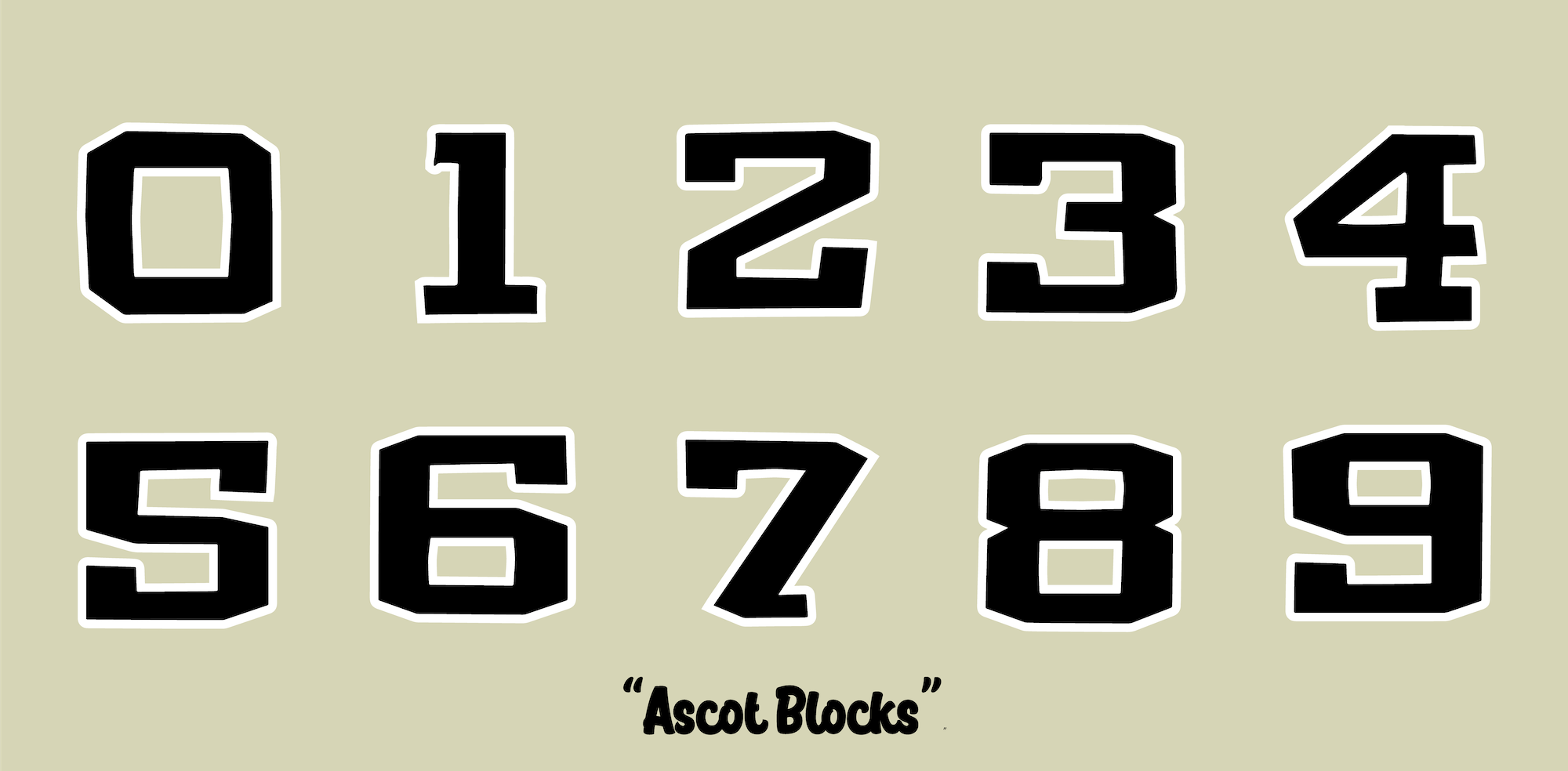 NUMBERS FOR RACE PLATES