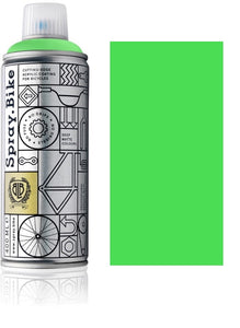 Fluro Green - 400ml fluorescent green paint for bikes spray.bike paints for electric bikes at custom73.com electric bike paint