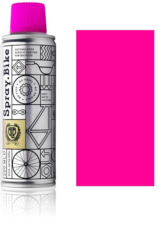 Fluro Pink - 200ml fluorescent pink paint for bikes spray.bike paints for electric bikes at custom73.com electric bike paint