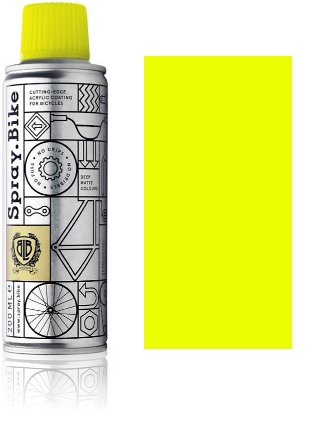 Fluro Yellow - 200ml fluorescent yellow paint for bikes spray.bike paints for electric bikes at custom73.com electric bike paint
