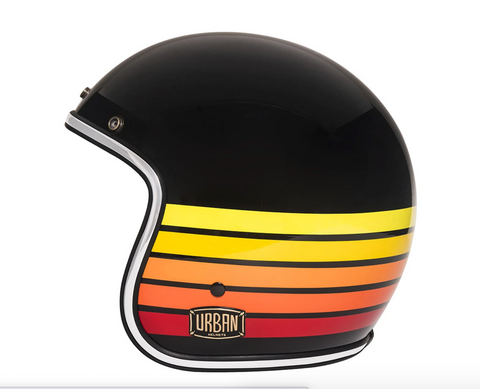 "Urban Helmets ""Fire Stripes"" 3/4 HELMET"