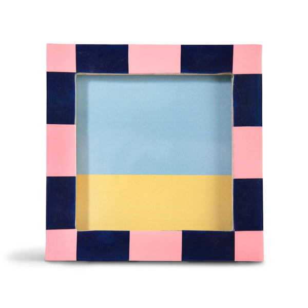 Pink Square Check Frame