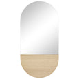 Oak Oval Wall Mirror
