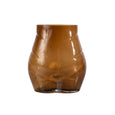Brown Glass Bum Vase