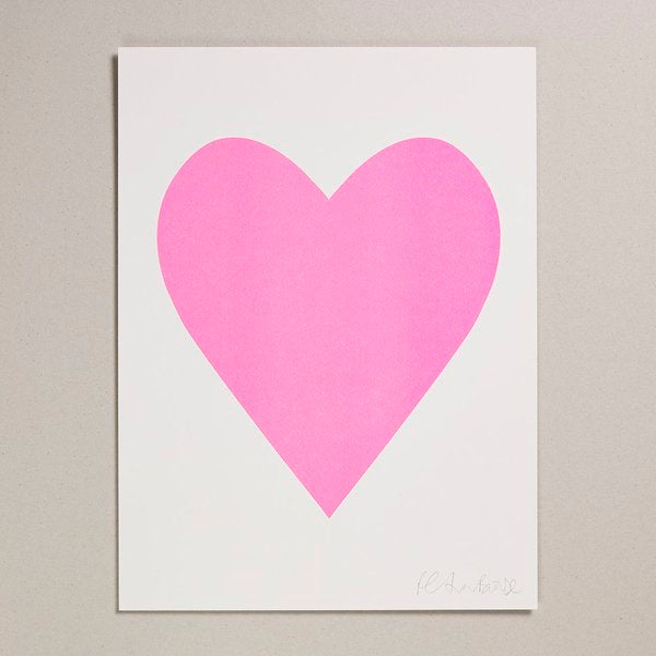 Big Heart Risograph 30x40 Print