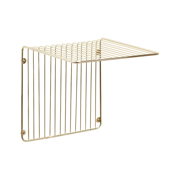 Metal Gold Wall Shelf