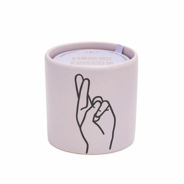 Fingers Crossed Impressions Candle