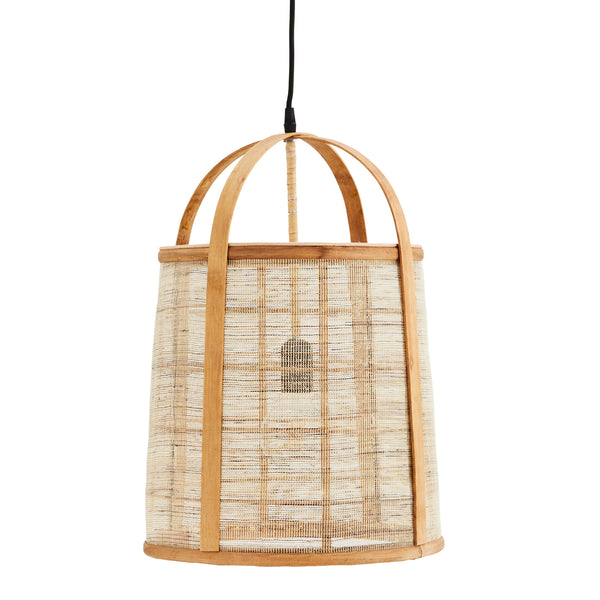 Bamboo / Linen Ceiling Light