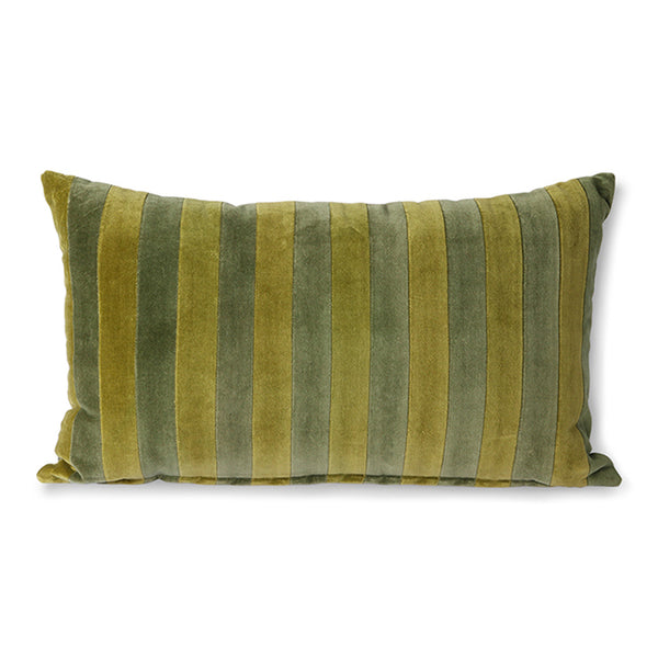 Green & Camo Striped Cushion