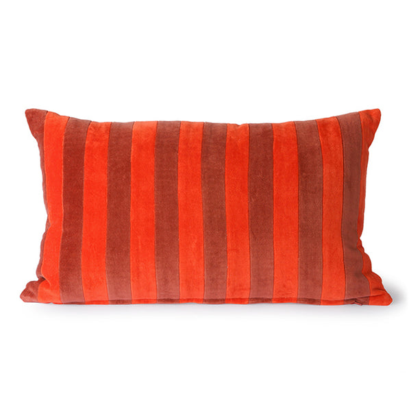 Red & Bordeaux Striped Cushion