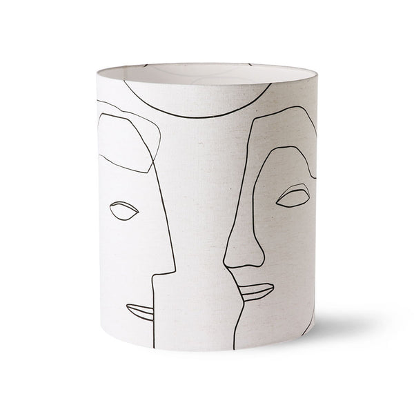 Large Printed Faces Lampshade