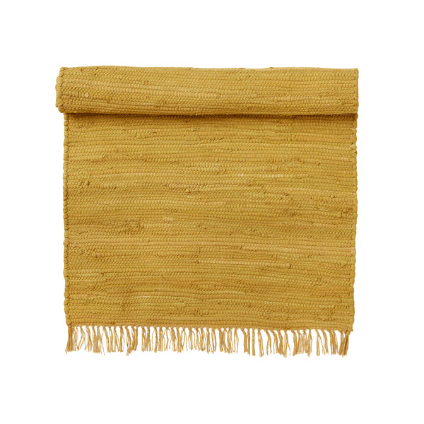 Cotton Chindi Rug - Mustard