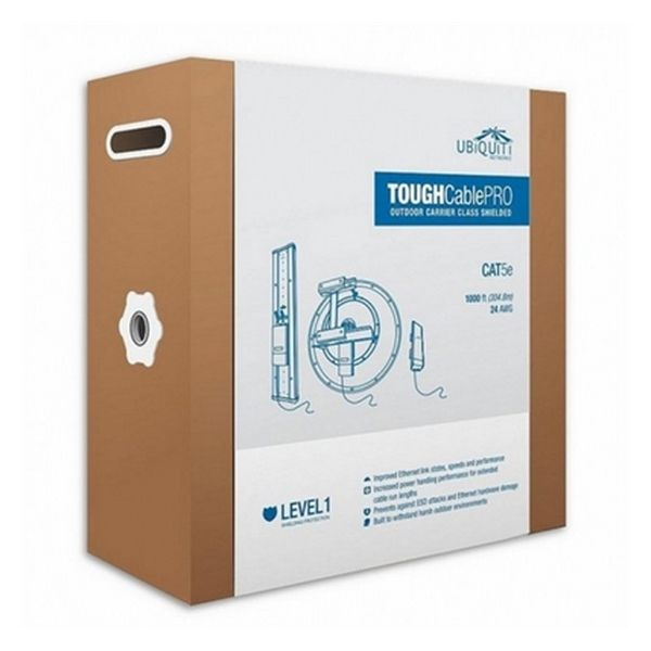 Reinforced Exterior Network Cable Category 5e UBIQUITI TC-PRO Level 1 305 m Black