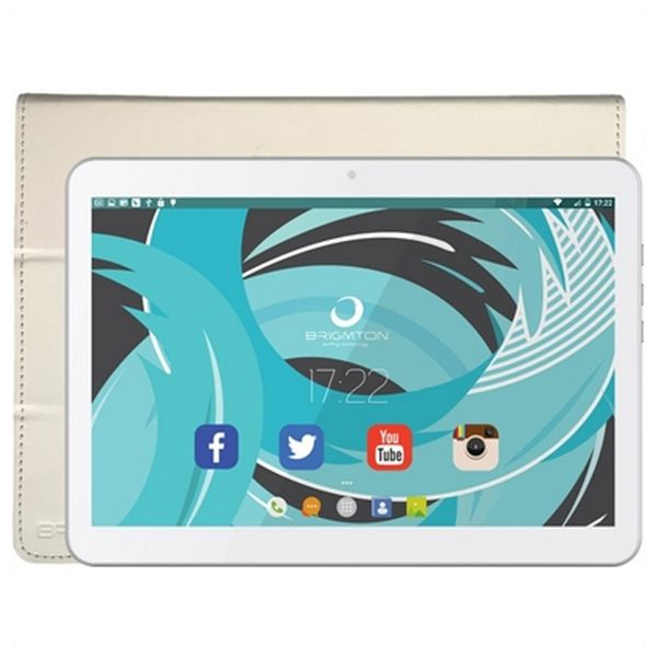 "Tablet with Cover BRIGMTON BTPC-1021B-BTAC-108B 10,1"" Quad Core 1 GB RAM 16 GB White"